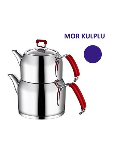 Nar-ı Dem Aile Çaydanlık - Mor-Aksu